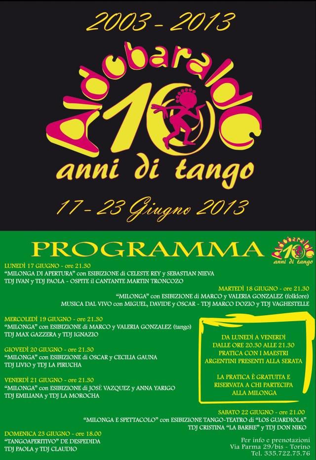 Dieci anni della nostra scuola di tango argentino. Ci trovi a Torino