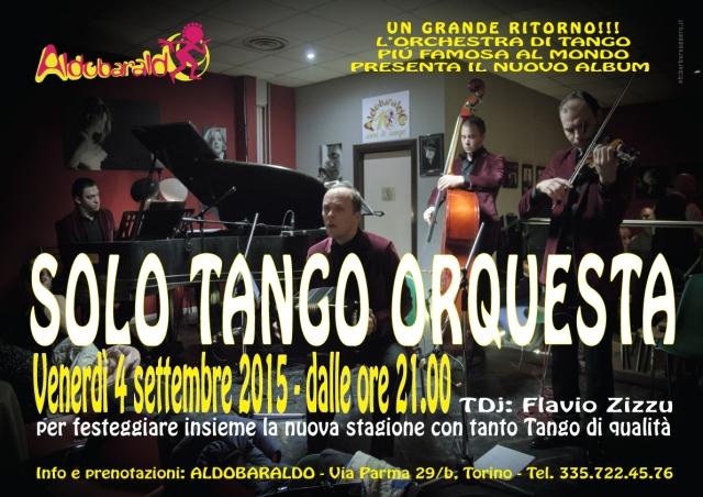 Solo Tango Orquesta milonga musica dal vivo orchestra tango aldobaraldo torino