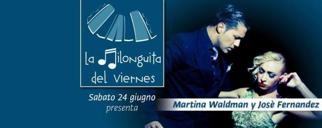 Martina Waldman y Josè Fernandez aldobaraldo tango esibizione stage lezioni