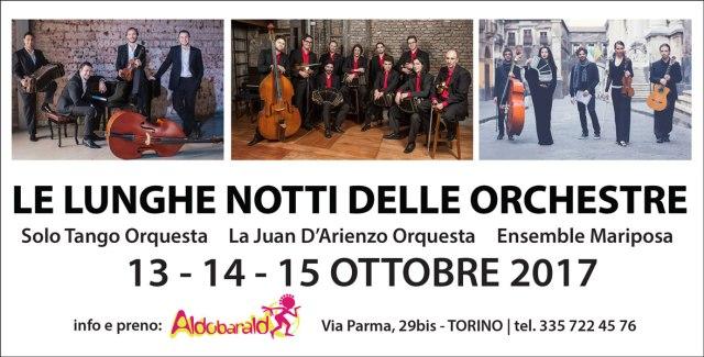 aldobaraldo lunghe notti delle orchestre 2017 solo tango juan d'arienzo ensemble mariposa milonga ballare torino evento