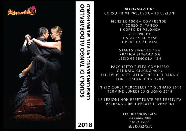 Aldobaraldo scuola tango argentino torino silvano caniati sabina corsi ballo